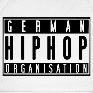 German HipHop Organisation (weiß) - Baseballkappe