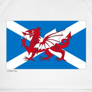 White Scotland Wales Mixed Flag  Aprons - Baseball Cap