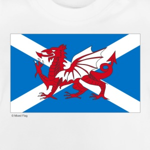 White Scotland Wales Mixed Flag Kid's Shirts  - Baby T-Shirt