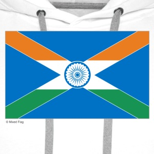 White India Scotland Mixed Flag Bags  - Men's Premium Hoodie