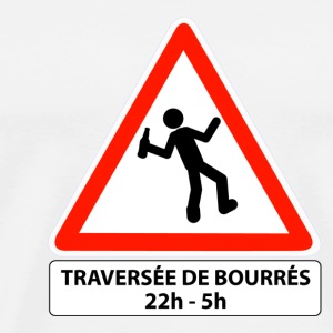 attention traversée de bourrés - T-shirt Premium Homme