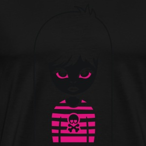 Schwarz bad gothic girl for black shirts Männer Langarm - Männer Premium T-Shirt
