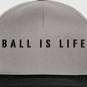 Marrone ball is life - basket slogan Pullover - Snapback Cap