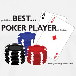 White/red BestPokerPlayer Long sleeve shirts - Men's Premium T-Shirt