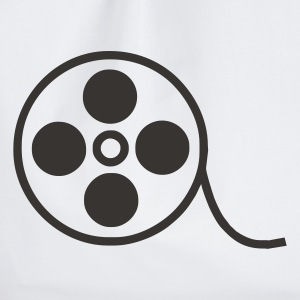 Weiß Film Video Kino T-Shirt - Turnbeutel