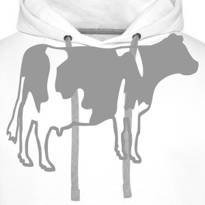 White Cow T-Shirts - Men's Premium Hoodie