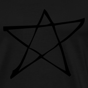 Sort Star Sweatshirts - Herre premium T-shirt