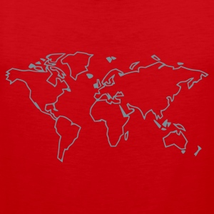 Red The World T-Shirts - Men's Premium Tank Top