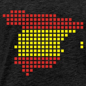 Green Spain flag pixel map Men's Longsleeves - Men's Premium T-Shirt