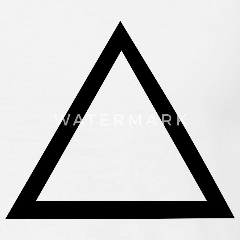 White triangle T-Shirts - Men's T-Shirt