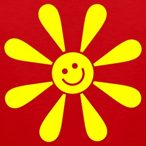 Red happy sun Juniors - Tank top premium hombre