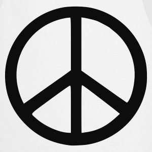 White peace sign T-Shirts - Cooking Apron