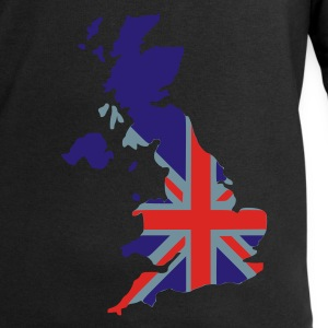 Black UK flag pixel map T-Shirts - Men's Sweatshirt by Stanley & Stella