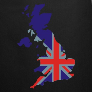 Black UK flag pixel map T-Shirts - Cooking Apron