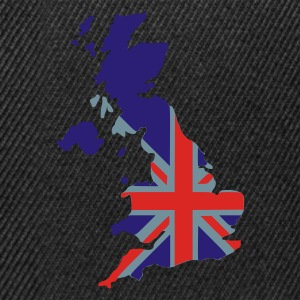 Black UK flag pixel map T-Shirts - Snapback Cap