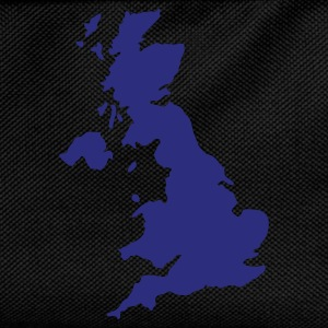 Sort UK - Great Britain map T-Shirts - Rygsæk til børn
