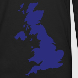 Black UK map T-Shirts - Men's Premium Longsleeve Shirt