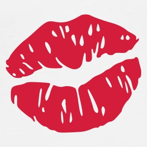 Vit lips kiss mouth Accessoar - Premium-T-shirt herr