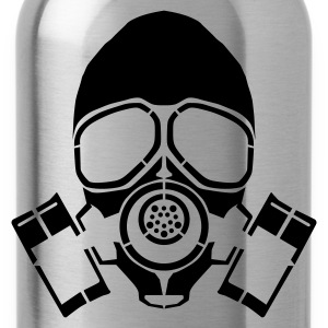 gas mask hooded jacket - Water Bottle