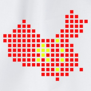 Wit China flag pixel map Accessoires - Gymtas