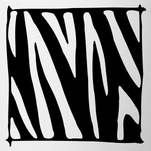 White zebra stripes Accessories - Mug