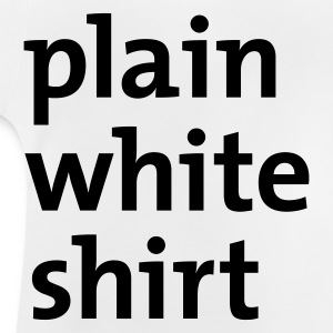 White plain white shirt Juniors - Baby T-Shirt