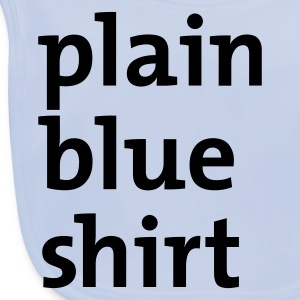 Light blue plain blue shirt Juniors - Baby Organic Bib