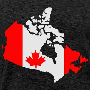 Brown Canada flag map Men's Longsleeves - Men's Premium T-Shirt