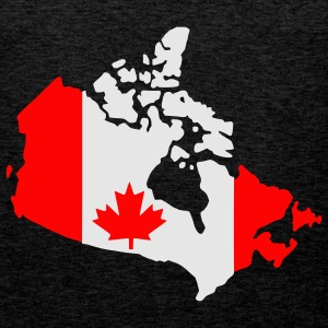 Brun canada flag map Genser - Premium singlet for menn