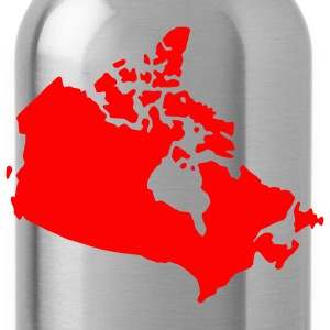 Rood canada map Heren t-shirts - Drinkfles