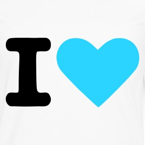 Blanc I love - I heart Hommes - T-shirt manches longues Premium Homme