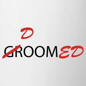 White/red Groom / Doomed (wedding, groom, groom to be, stag  party, honeymoon) T-Shirts - Mug