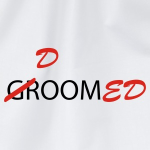 White/navy Groom / Doomed (wedding, groom, groom to be, stag  party, honeymoon) T-Shirts - Drawstring Bag