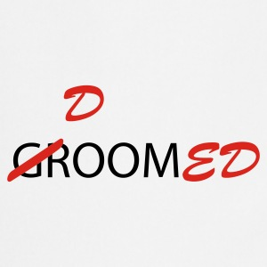 White/navy Groom / Doomed (wedding, groom, groom to be, stag  party, honeymoon) T-Shirts - Cooking Apron