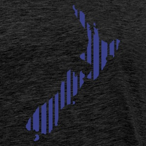 Grønn New Zealand map in stripes Genser - Premium T-skjorte for menn
