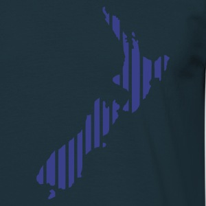 Navy New Zealand map in stripes Ladies' Longsleeves - Men's T-Shirt