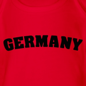 Red Germany Juniors - Organic Short-sleeved Baby Bodysuit