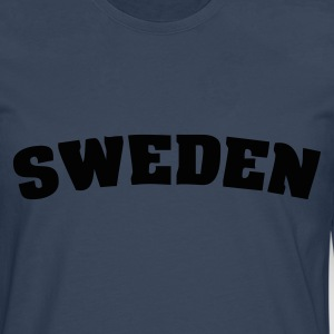 Navy Sweden T-Shirts - Men's Premium Longsleeve Shirt