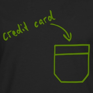 Svart Credit card hidden in your pocket T-shirt - Långärmad premium-T-shirt herr