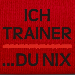 Orange/blau Trainer (1) zweifarb T-Shirt - Wintermütze