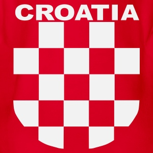 Fan Shirt  Kids Land Croatia Sahovnica - Baby Bio-Kurzarm-Body