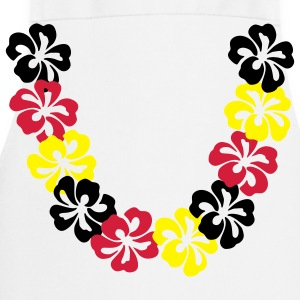 Bianco Neck lace - Hawaii Flower T-shirt (maniche corte) - Grembiule da cucina