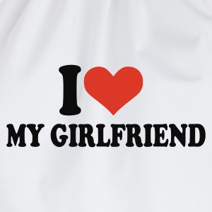Blanc I love my girlfriend Hommes - Sac de sport léger