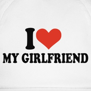 Wit I love my girlfriend T-shirts (korte mouw) - Baseballcap