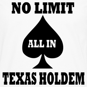Weiß Poker - Texas Holdem - All in T-Shirt - Männer Premium Langarmshirt