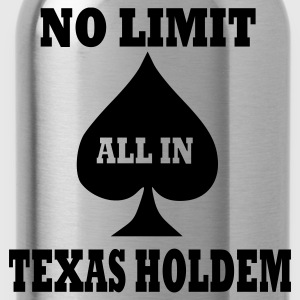 Schwarz Poker - Texas Holdem - All in T-Shirt - Trinkflasche