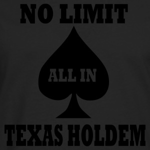 Schwarz Poker - Texas Holdem - All in T-Shirt - Männer Premium Langarmshirt