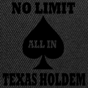 Schwarz Poker - Texas Holdem - All in T-Shirt - Snapback Cap