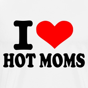 Hvid/sort I love hot moms Herre, langærmet - Herre premium T-shirt