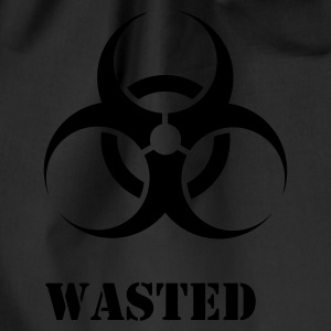 Black Wasted Biohazard Men's T-Shirts - Drawstring Bag